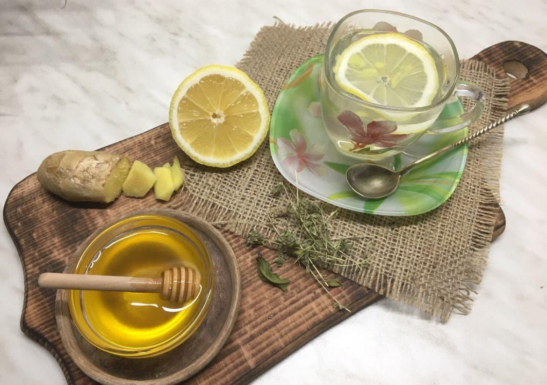 Медовая вода с имбирем и лимоном