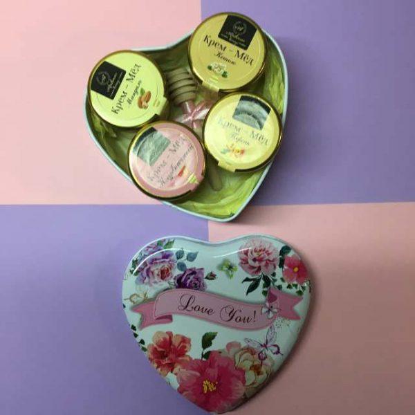 Подарочный набор «I love you» в форме сердца