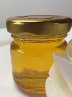 Свадебные бонбоньерки баночки 40 мл с медом без добавок