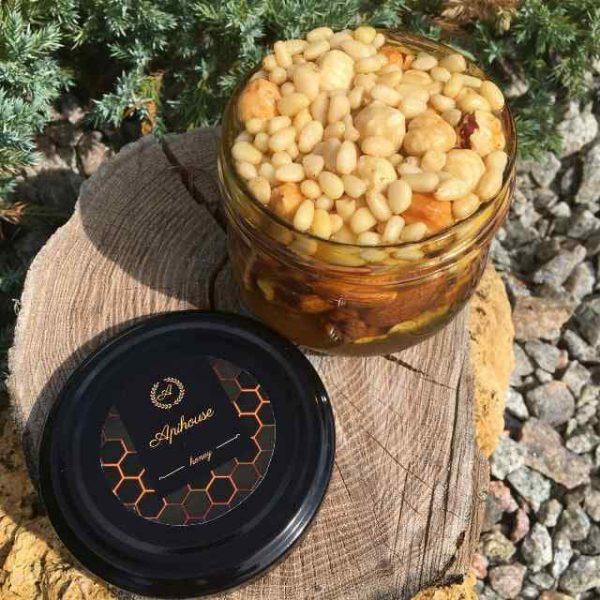 Мёд с орехами ассорти