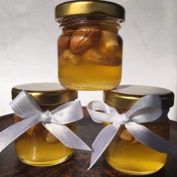 Мёд с орешками ассорти мини баночки 40 мл