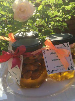 Бонбоньерки мёд с орешками
