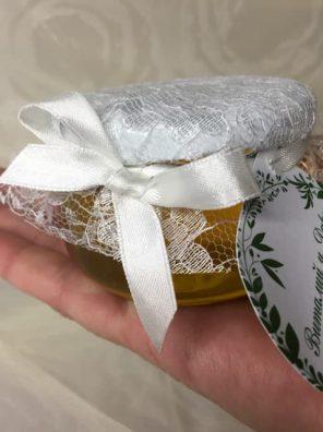 Бонбоньерки мёд 100 млбаночках как подарки для гостей